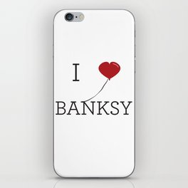 I heart Banksy iPhone Skin