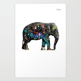 Elephant of street logo noir urban fashion culture Jacob's 1968 Paris Agency Art Print