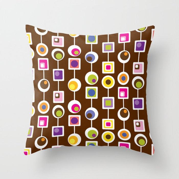 Mod Love Chocolate II Throw Pillow