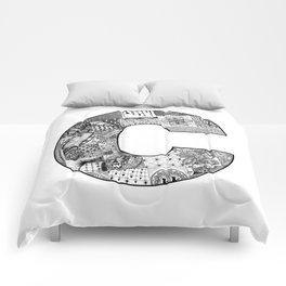 Cutout Letter C Comforters