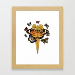 BUTTERFLIES ICE CREAM Framed Art Print