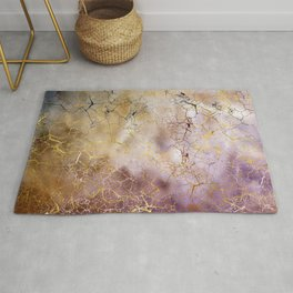 Abstract  Marble and quartz crystal Texture Rug