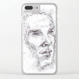 Inktober #7 Clear iPhone Case