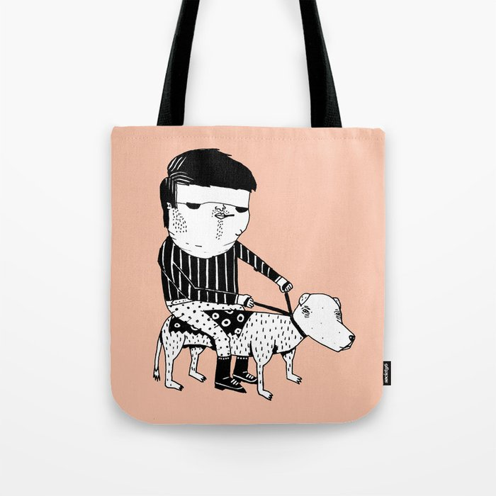 Jack the Dog Rider Tote Bag