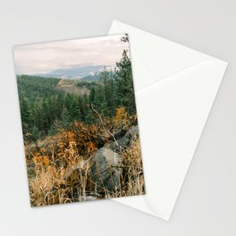 Autumn in a Northwest Forest and Mountains Stationery Cards