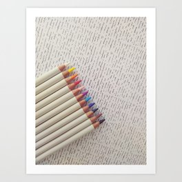 Giving Color to the story of my life Art Print