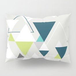 Triangles and a moose Pillow Sham