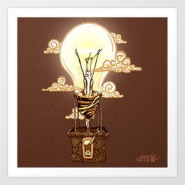 Aerostatic Bulb Art Print