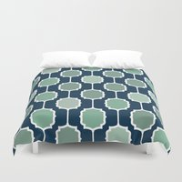 navy Duvet Covers featuring navy by Ann Gardner