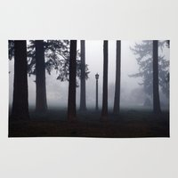 narnia Area & Throw Rugs featuring Misty Park by Lyssia Merrifield