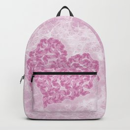 Delicate pink butterflies on a silky pink background Backpack