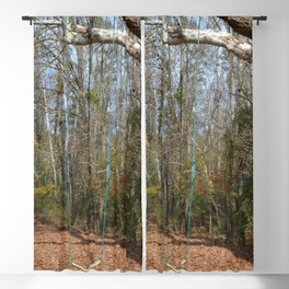 tree and swing Blackout Curtain