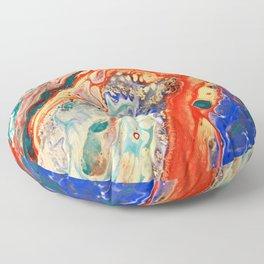 Acrylic Pour Four Floor Pillow