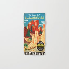 Vintage poster - Bryce Canyon Hand & Bath Towel