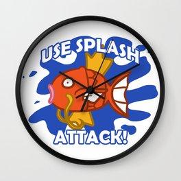 Use Splash Attack! Wall Clock