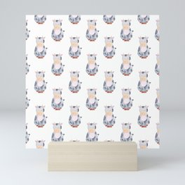 Cow Pattern Mini Art Print