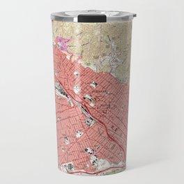 Vintage Map of Burbank California (1966) Travel Mug