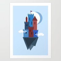 castle in the sky Art Prints featuring Sky Castle by Becky Gibson