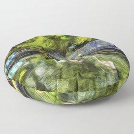 Narrow Boats Little Venice art Floor Pillow