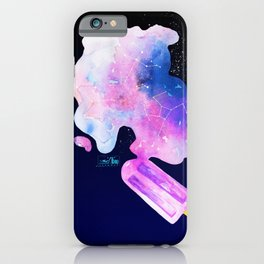 Dreaming of summer starry night in melted popsicle iPhone Case