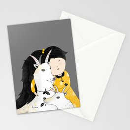 Capricia with Goats Stationery Cards
