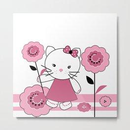 Funny Little kitten . Metal Print