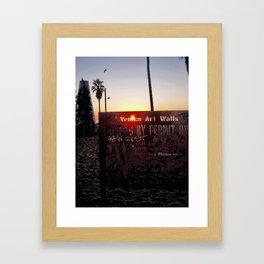 Venice Art Walls: solar coincidence Framed Art Print