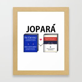 Jopara Love Framed Art Print