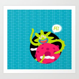 Say Hi Art Print