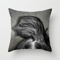 grumpy Throw Pillows featuring Grumpy by IOSQ