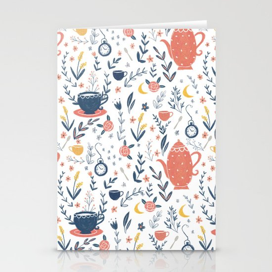 Mad Tea Party Stationery Cards