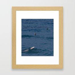 abstract surf Framed Art Print