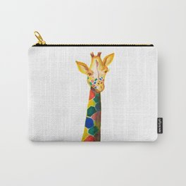 Giraffe Watercolor Print Carry-All Pouch