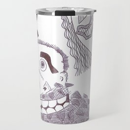 A Grotesque Sextet In Ink Travel Mug