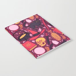 Witch Supplies in Wine Notebook