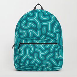 Chubby Squiggles in Teal (abstract pattern) Backpack