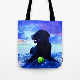 Ziggy Black Labrador Tote Bag