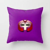 magneto Throw Pillows featuring Magneto by Oblivion Creative