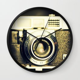 The heart and mind are the true lens of the camera Wall Clock