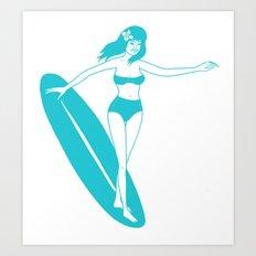 Wave Abduction Art Print