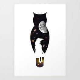 GIRL IN SPACE Art Print