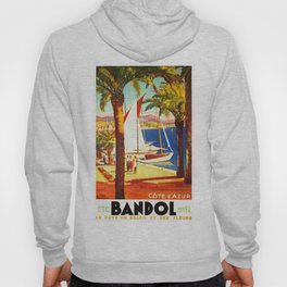Vintage Bandol France Travel Poster Hoody
