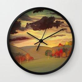 Gold field Wall Clock