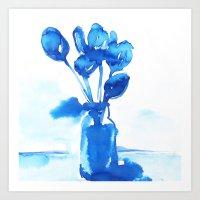 tulips Art Prints featuring Tulips by Zsofi Porkolab