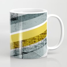 Grey & Yellow Chevron Mug