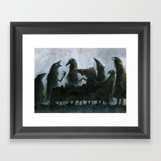 7Ravens - Table Framed Art Print