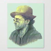 sherlock holmes Canvas Prints featuring sherlock holmes by Doruktan Turan