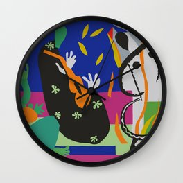 Matisse Cut Out Collage Wall Clock