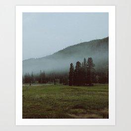 YNP fog 2 Art Print