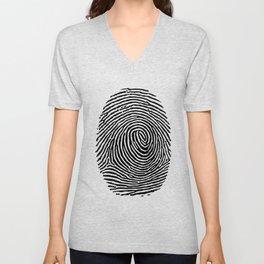 Fingerprint CSI crime scene Unisex V-Neck